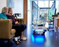 The robot bears the brunt at the nursing home