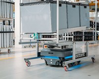 A fleet of MiR200 robots improves logistics and boosts productivity at Whirlpool