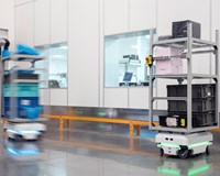 7 MiR100 robots are working 3 shifts a day at Visteon, Mexico, improving productivity significantly
